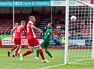 Anthony Kay of Port Vale heads to score the 2nd goal during the Sky Bet League 2 match at  Checkatrade.com Stadium, Crawley<br /> Picture by Liam McAvoy/Focus Images Ltd 07413 543156<br /> 05/08/2017