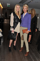 Left to right, NOELLE RENO and TAMARA BECKWITH at a lunch hosted by Harrods' and Erno Laszlo to celebrate the launch of the Erno Laszlo Hollywood Collection held in The Penthouse, Harrods, Knightsbridge, London on 25th April 2012.