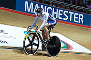 Picture by Ian Wadkins/Focus Images Ltd +44 7877 568959<br /> 02/11/2013<br /> Jess Varnish of Team GB pictured during day two of the UCI Track Cycling World Cup  at the National Cycling Centre, Manchester.