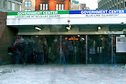 February 11, 2011 - People pass in and out of the Government Center T station in Boston, MA. Photo by Lathan Goumas.