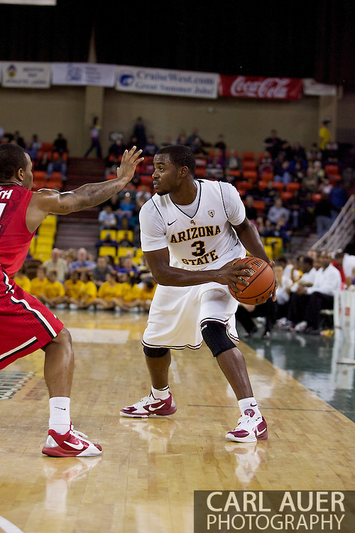 November 27th, 2010:  Anchorage, Alaska - Sun Devil senior guard Ty Abbott (3) looks to pass in Arizona State's 58-67 loss to St. John's in the championship game of the Great Alaska Shootout.