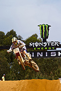 agueda, Portugal, 5th May 2013, World Championship MX1, Estonian Tanel Leok with a Honda, 13th race 1 and  12th in race 2