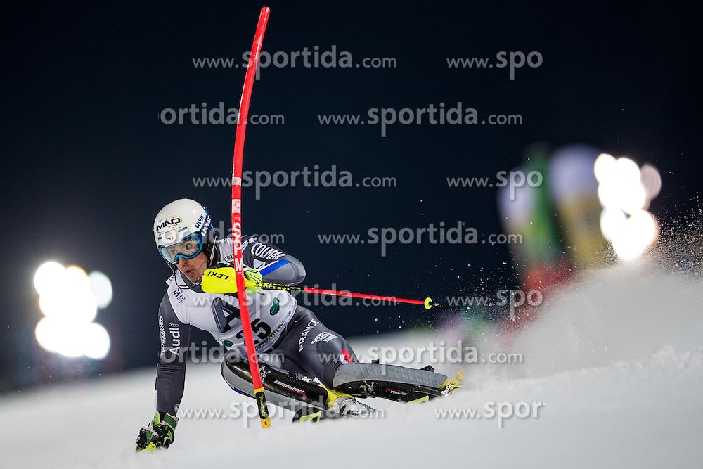 24.01.2017, Planai, Schladming, AUT, FIS Weltcup Ski Alpin, Schladming, Slalom, Herren, 1. Lauf, im Bild Victor Muffat-Jeandet (FRA) // Victor Muffat-Jeandet of France in action during his 1st run of men's Slalom of FIS ski alpine world cup at the Planai in Schladming, Austria on 2017/01/24. EXPA Pictures © 2017, PhotoCredit: EXPA/ Johann Groder