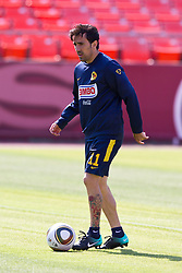 August 3, 2010; San Francisco, CA, USA;  Club America forward Vicente Sanchez (11) practices at Candlestick Park a day before their match with Real Madrid.