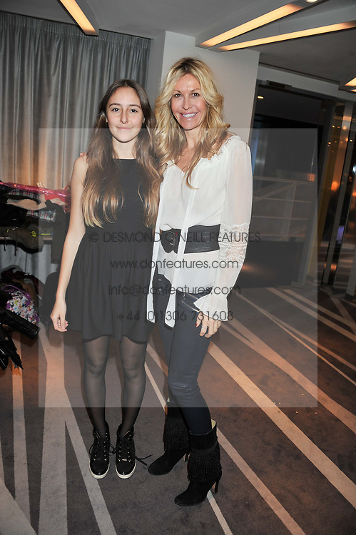 Left to right, ALAIA DE SANTIS ODABASH and her mother MELISSA ODABASH at the NIP+FAB Bright Young Things Beauty Workshop Tea Party held at the W Hotel, Wardour Street, London W1 on 24th November 2012.