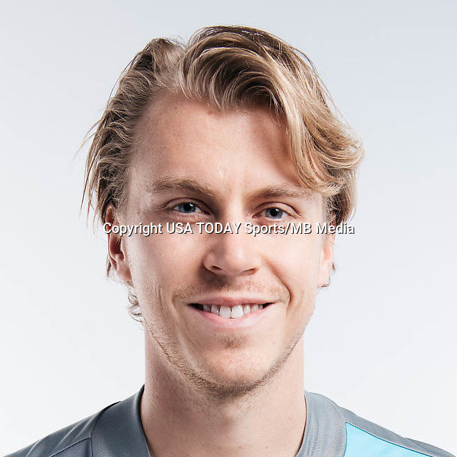 Feb 25, 2017; USA; Minnesota United FC player Rasmus Schuller poses for a photo. Mandatory Credit: USA TODAY Sports