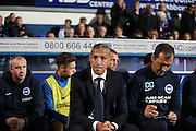 Brighton Manager, Chris Hughton during the EFL Sky Bet Championship match between Ipswich Town and Brighton and Hove Albion at Portman Road, Ipswich, England on 27 September 2016.