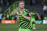 Forest Green Rovers Nathan McGinley(19) applauds the supporters at the end of the match during the EFL Sky Bet League 2 match between Forest Green Rovers and Grimsby Town FC at the New Lawn, Forest Green, United Kingdom on 17 August 2019.