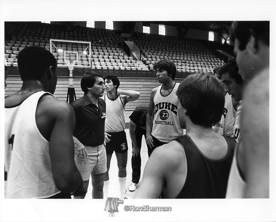 On March 18, 1980, Krzyzewski was named the head coach at Duke University after five seasons at Army.[8] After a few rebuilding seasons, he and the Blue Devils became a fixture on the national basketball scene with 28 NCAA Tournament berths in the past 29 years and 18 consecutive from 1996 to 2013, which is the second-longest current streak of tournament appearances behind Kansas, which has appeared in the tournament in 24 consecutive seasons. Overall, he has taken his program to postseason play in 30 of his 33 years at Duke and is the most winning active coach in men's NCAA Tournament play with a 82–25 record for a .767 winning percentage. His Duke teams have won 13 ACC Championships, been to 11 Final Fours, and won four NCAA tournament National Championships.