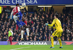 Danny Welbeck of Arsenal heads towards goal. - Mandatory by-line: Alex James/JMP - 10/01/2018 - FOOTBALL - Stamford Bridge - London, England - Chelsea v Arsenal - Carabao Cup semi-final first leg