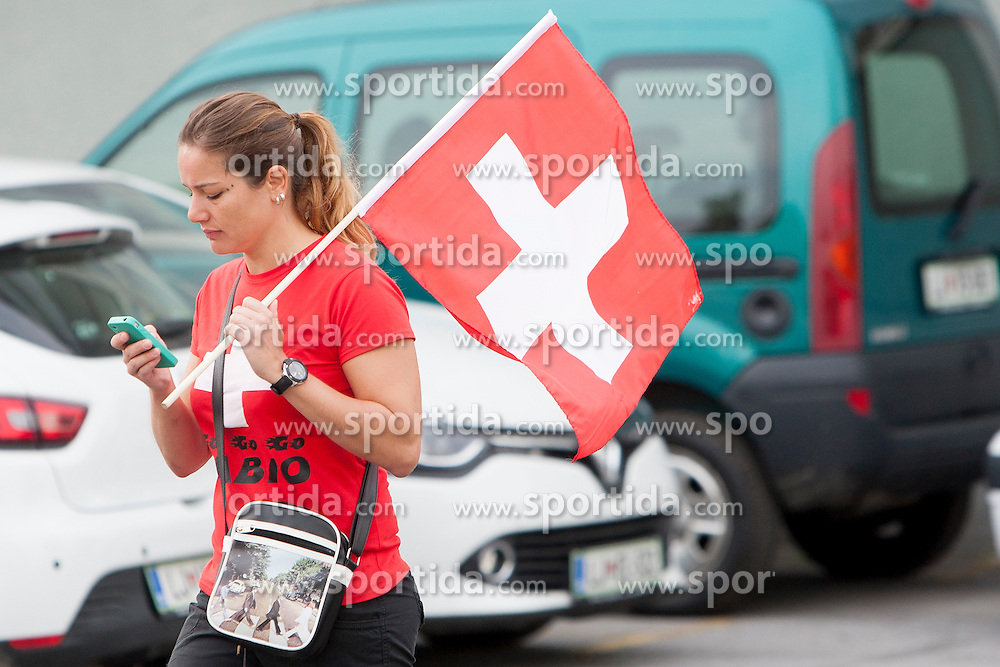 Fan of Switzerland during UCI amateur Road World Championship 2014 on August 31, 2014 in BTC City, Ljubljana, Slovenia. Photo by Urban Urbanc / Sportida.com