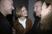 NATALIA VODIANOVA AND PAOLO ROVERSI, Face of Fashion private view. National Portrait Gallery. London. 12 February 2007.  -DO NOT ARCHIVE-© Copyright Photograph by Dafydd Jones. 248 Clapham Rd. London SW9 0PZ. Tel 0207 820 0771. www.dafjones.com.