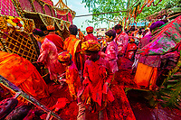 Chhadi Mar Holi (local Holi celebration), Holi Festival (Festival of Colors), village of Gokul, near Mathura, Uttar Pradesh, India.