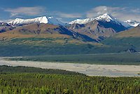 The central Alaska Range and the Delta River Alaska