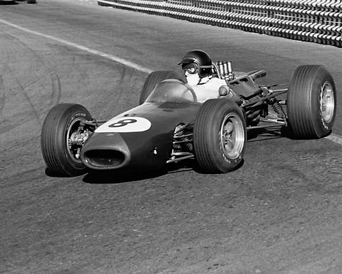 Dan Gurney, Brabam, 2nd place and fastest lap, 1965 Mexican GP