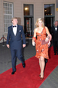 Prince Willem Alexander and maxima are in The Hague at the Royal Thaetre for the king Willem 1 price.<br />