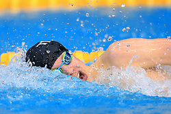Charlie Hutchison competes in the Men's Junior 400m Individual Medley Final during day three of the 2017 British Swimming Championships at Ponds Forge, Sheffield.