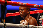 A great start for Lee McGregor getting to work early on Goodluck Mrema for the  Vacant IBF Youth Bantamweight Championship SSE Hydro, Glasgow, Scotland on 23 June 2018. Picture by Colin Poultney.