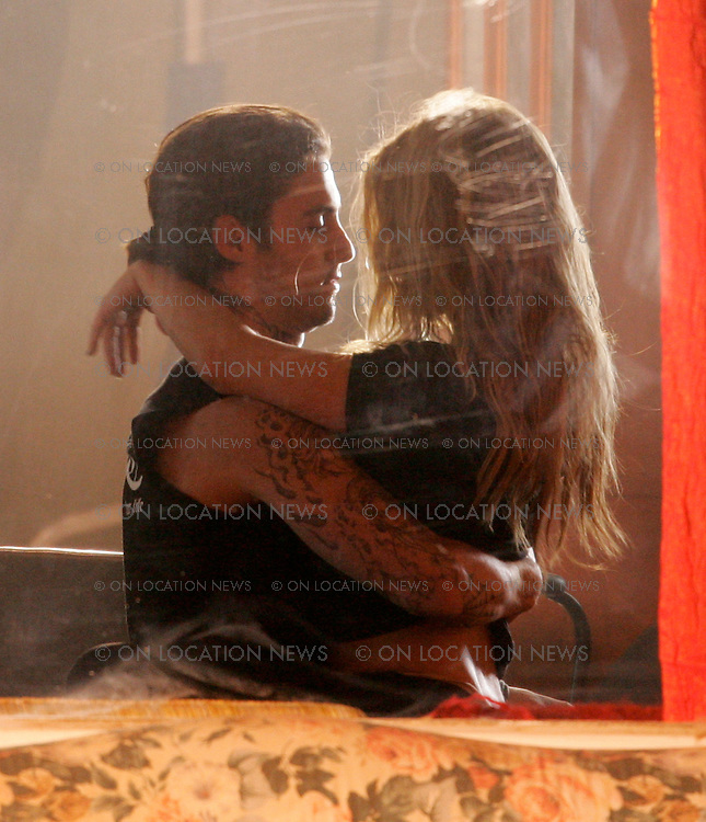 "April 14, 2007 Los Angeles, CA. Stacey Ferguson A.K.A. Fergie films a sexy music video for her song ""Big Girls Don't Cry"". Milo Ventimiglia from the TV show Heroes is the lucky guy who gets to make out with fergie in her video. EXCLUSIVE Photo By Eric Ford 818-613-3955 info@onlocationnews.com"