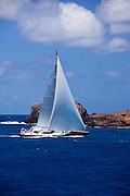 Ganesha racing in the St. Barth's Bucket Regatta.
