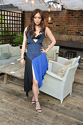 BETTY BACHZ at the Warner Music Group Summer Party in association with British GQ held at Shoreditch House, Ebor Street, London E2 on 8th July 2015.