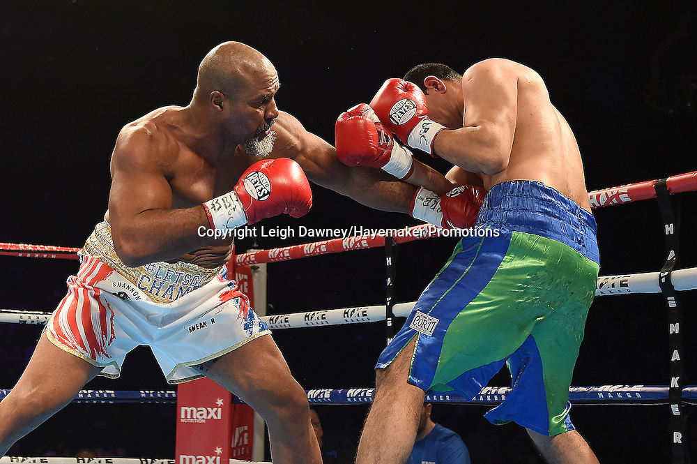 Shannon Briggs v Emilio Ezequiel Karate in a heavyweight contest at the 02 Arena, London on the 21st May 2016. Photo credit: Leigh Dawney/Hayemaker Promotions.