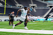Academy student athletes try out today during the NFL Academy Stadium Showcase (40 yard dash) during the NFL Media Day held at Tottenham Hotspur Stadium, London, United Kingdom on 2 July 2019.
