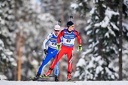 March 9, 2019 - –Stersund, Sweden - 190309 Olli Hiidensalo of Finland and Mihail Usov of Moldova competes in the Men's 10 KM sprint during the IBU World Championships Biathlon on March 9, 2019 in Östersund..Photo: Petter Arvidson / BILDBYRÃ…N / kod PA / 92252 (Credit Image: © Petter Arvidson/Bildbyran via ZUMA Press)