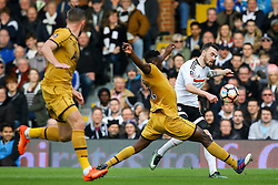 Victor Wanyama of Tottenham Hotspur black a cross from Scott Malone of Fulham - Mandatory by-line: Jason Brown/JMP - 19/02/2017 - FOOTBALL - Craven Cottage - Fulham, England - Fulham v Tottenham Hotspur - Emirates FA Cup fifth round