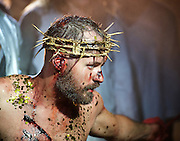 Jesus Christ Superstar <br /> by Tim Rice &amp; Andrew Lloyd Webber <br /> at The Regent's Park Open Air Theatre, London, Great Britain <br /> press photocall<br /> 19th July 2016 <br /> <br /> Declan Bennett as Jesus <br /> <br /> <br /> <br /> <br /> <br /> Photograph by Elliott Franks <br /> Image licensed to Elliott Franks Photography Services