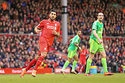 Liverpool midfielder Emre Can  during the Barclays Premier League match between Liverpool and Sunderland at Anfield, Liverpool, England on 6 February 2016. Photo by Simon Davies.