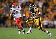 08 SEPTEMBER 2007: Iowa wide receiver Colin Sandeman (22) in Iowa's 35-0 win over Syracuse at Kinnick Stadium in Iowa City, Iowa on September 8, 2007.