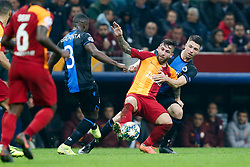 November 26, 2019, Galatasaray, Turkey: Club's Eder Balanta, Galatasaray's Adem Buyuk and Club's Brandon Mechele fight for the ball during a game between Turkish club Galatasaray and Belgian soccer team Club Brugge, Tuesday 26 November 2019 in Istanbul, Turkey, fifth match in Group A of the UEFA Champions League. (Credit Image: © Bruno Fahy/Belga via ZUMA Press)