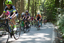 Demi de Jong (NED) of Parkhotel Valkenburg - Destil Cycling Team rides mid-pack on the climb leading to Moschlitz on Stage 1 of the Lotto Thuringen Ladies Tour - a 124.8 km road race, starting and finishing in Schleiz on July 13, 2017, in Thuringen, Germany. (Photo by Balint Hamvas/Velofocus.com)