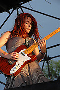 Carolyn Wonderland at Blues on the Green in Austin Texas, July 23, 2008. Carolyn Wonderland is a singer, songwriter and musician from Austin, Texas.