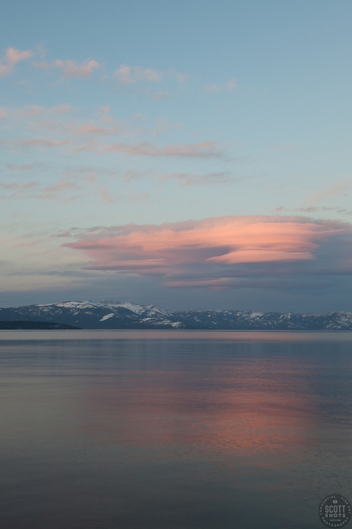 """""""Sunset at Lake Tahoe 13"""" - This sunset was photographed from the West Shore of Lake Tahoe, CA"""