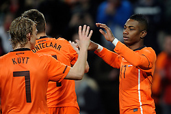 09-02-2011 VOETBAL: NEDERLAND - OOSTENRIJK: EINDHOVEN<br /> Netherlands in a friendly match with Austria won 3-1 / Klaas-Jan Huntelaar NED took his tenth goal in his last six games for 2-0. Tha assist came from Eljero Elia (17)<br /> ©2011-WWW.FOTOHOOGENDOORN.NL