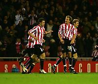 Photo: Andrew Unwin.<br /> Sunderland v Cardiff City. Coca Cola Championship. 31/10/2006.<br /> Sunderland's Chris Brown (#20) celebrates scoring his team's first goal.