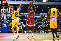Fred Thomas of Bristol Flyers in action as Bristol Flyers play London Lions - Rogan/JMP - 14/10/2018 - BASKETBALL - Copper Box Arena - London, England - British Basketball All-Stars Championship 2018.