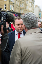 Pictured: <br /> <br /> Scottish Labour&rsquo;s Ian Murray and Scottish Labour leader Kezia Dugdale hit the general election campaign trail in Edinburgh today for the first campaign event of Mr Murray&rsquo;s re-election campaign for the Edinburgh South constituency.<br /> Ger Harley | EEm 21 April 2017