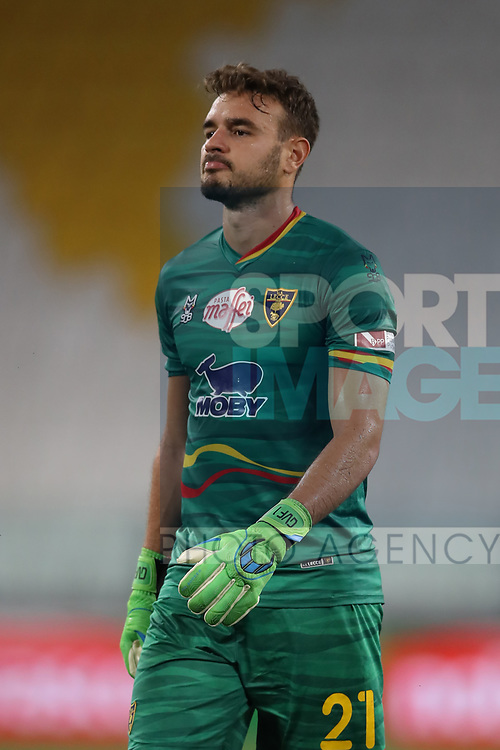 Lecce's Brazilian goalkeeper Gabriel reacts dejectedly  during the Serie A match at Allianz Stadium, Turin. Picture date: 26th June 2020. Picture credit should read: Jonathan Moscrop/Sportimage