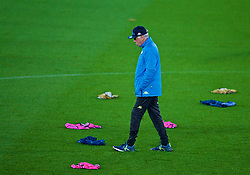 LIVERPOOL, ENGLAND - Monday, December 10, 2018: SSC Napoli's head coach Carlo Ancelotti during a training session at Anfield ahead of the UEFA Champions League Group C match between Liverpool FC and SSC Napoli. (Pic by David Rawcliffe/Propaganda)