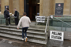 © Licensed to London News Pictures.  08/06/2017; Bristol, UK. General Election 2017; Polling day in Bristol West constituency with the City Register Office in Corn Street serving as a polling station. Picture credit : Simon Chapman/LNP