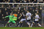 GOAL - Millwall defender Murray Wallace (25) shoots and scores 3-2 past Jordan Pickford during the The FA Cup fourth round match between Millwall and Everton at The Den, London, England on 26 January 2019.