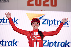 Liane Lippert (GER) in is the best young rider after Stage 2 of 2020 Santos Women's Tour Down Under, a 114.9 km road race from Murray Bridge to Birdwood, Australia on January 17, 2020. Photo by Sean Robinson/velofocus.com