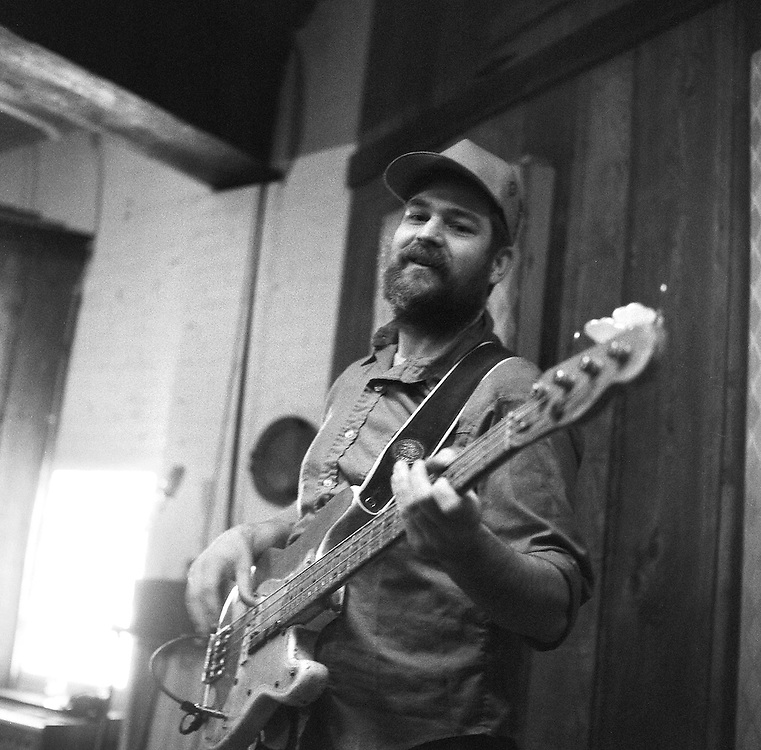 "Karl Blau working on Laura Veirs' album ""Warp and Weft"" at Flora Recording in Portland."