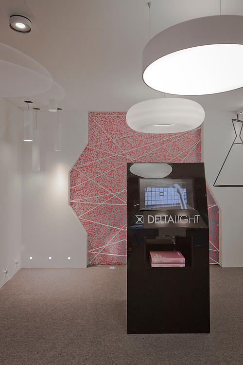 deltalight. ecobuild. lighting. exhibition stand.