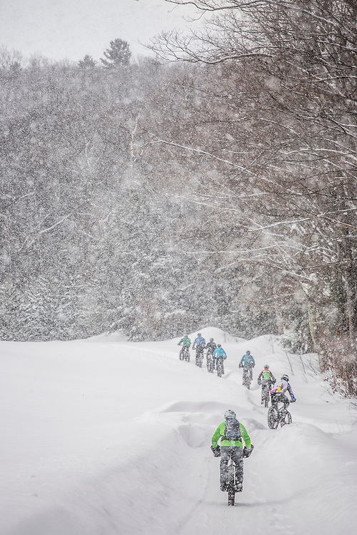 The 906 Polar Roll winter fat bike race in Marquette, Michigan.