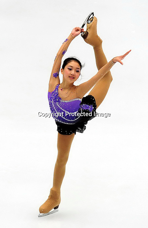 Dec 09, 2010; Beijing, CHINA; Risa Shoji of Japan competes in the Junior Ladies short program of the ISU Grand Prix Final.