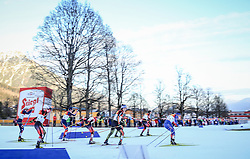 19.12.2015, Nordische Arena, Ramsau, AUT, FIS Weltcup Nordische Kombination, Langlauf, im Bild eine Teilnehmer-Gruppe // competitors during Cross Country Competition of FIS Nordic Combined World Cup, at the Nordic Arena in Ramsau, Austria on 2015/12/19. EXPA Pictures © 2015, PhotoCredit: EXPA/ Martin Huber